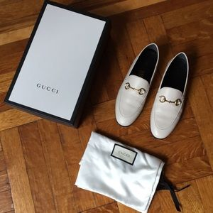 Authentic Gucci white loafers IT37 orig. box + bag